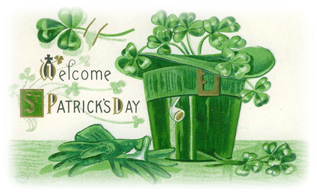 Free-vintage-st-patricks-day-clip-art-green-hat-and-gloves-shamrocks
